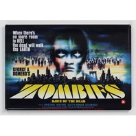 George Romero Dawn of the Dead Zombie Movie Poster FRIDGE MAGNET Horror Walking Dead