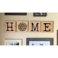 Dayton Ohio Screen Printed Wood Tile Wall Decor w/ easy hanging bracket OHIO office decor