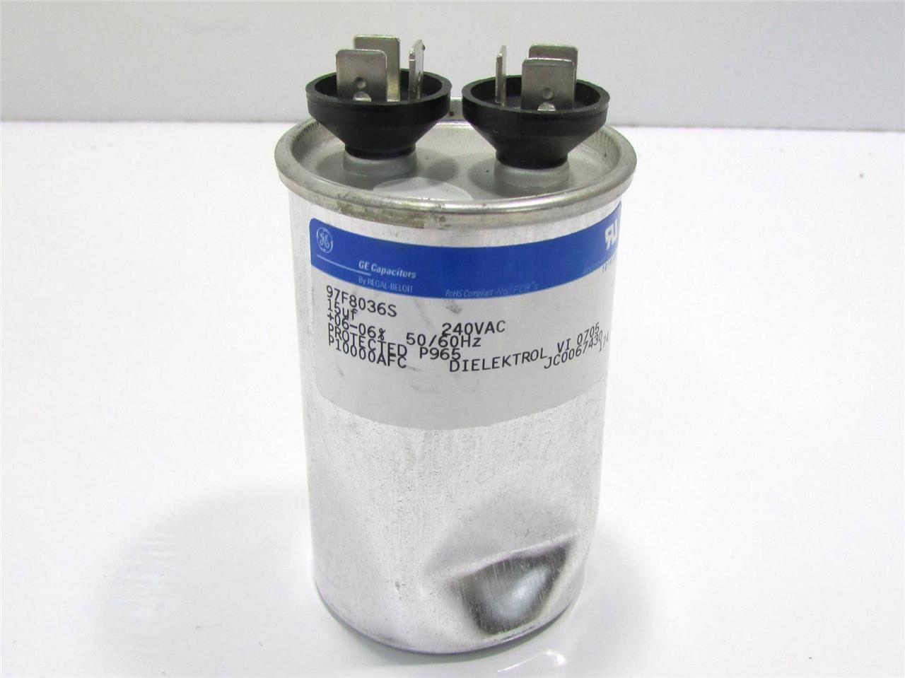 Ge 97f8036s Capacitor 15uf 240v 6 Premier Equipment
