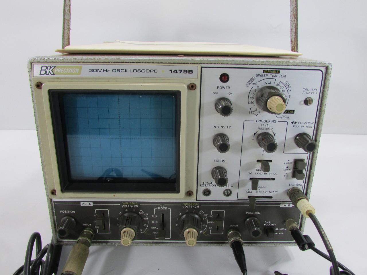 Dual Trace Oscilloscope : B k precision mhz dual trace oscilloscope