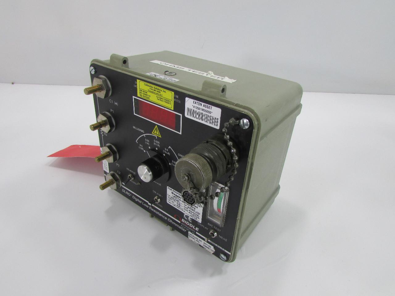 Digital Low Resistance Ohmmeters : Biddle dlro digital low resistance ohmmeter