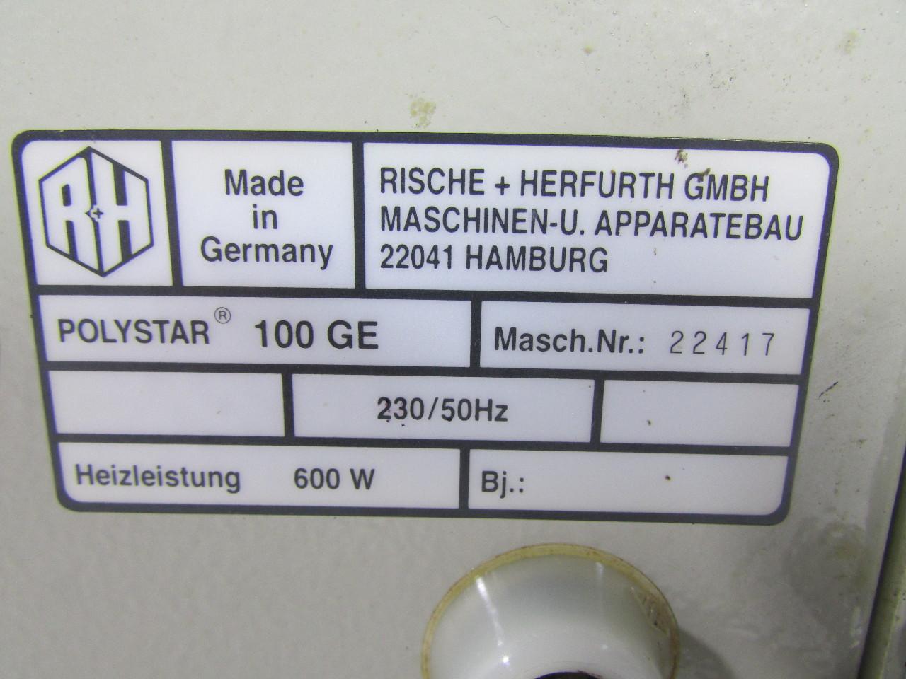 Herfurth Gmbh rische herfurth polystar 100 ge portable impulse tong sealer
