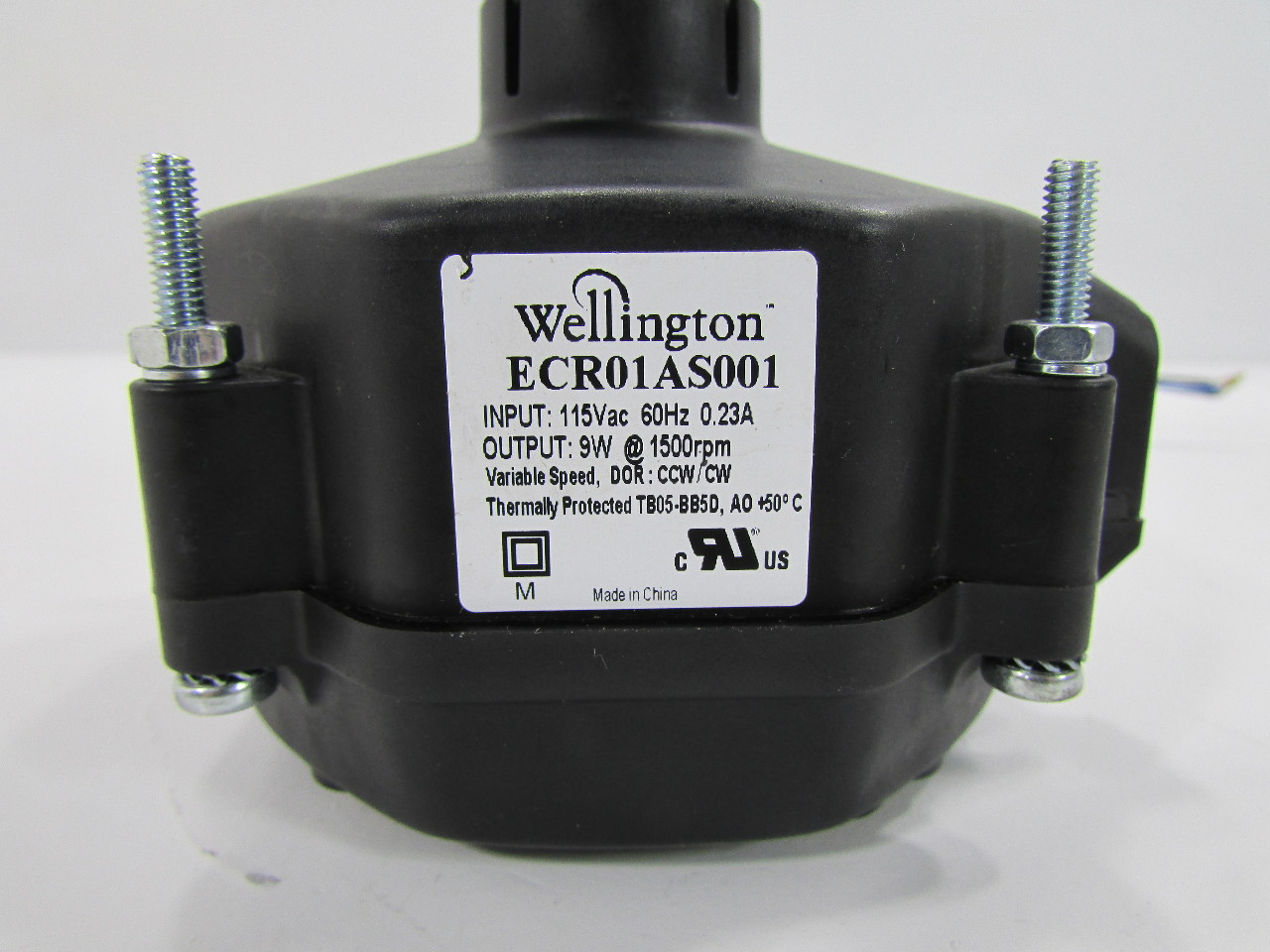 Wellington Refrigeration Fan Motor Ecr01as001 115v60 Hz 9w