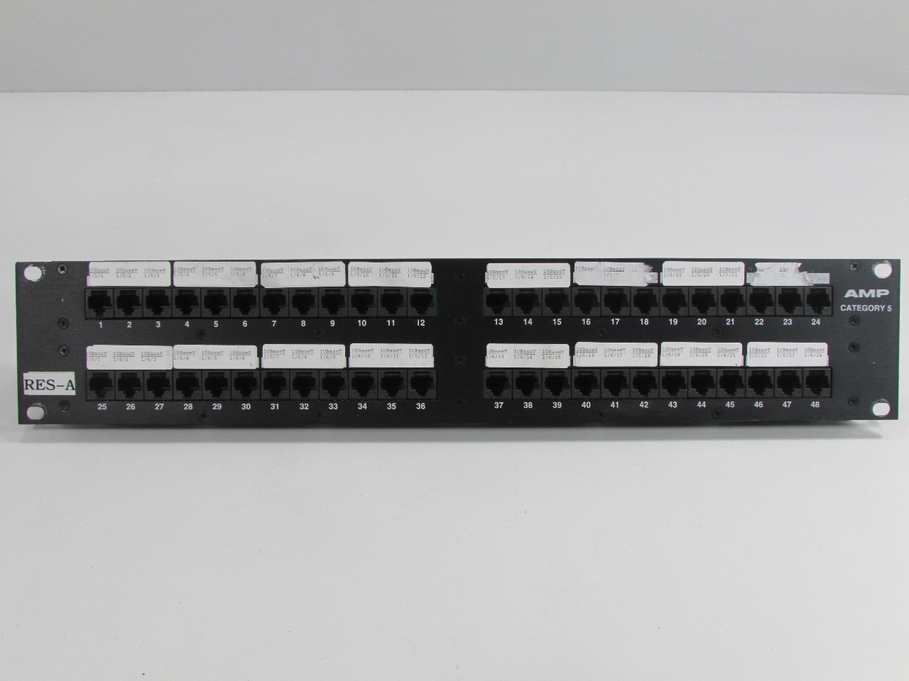 Amp 48 port multimedia patch panel