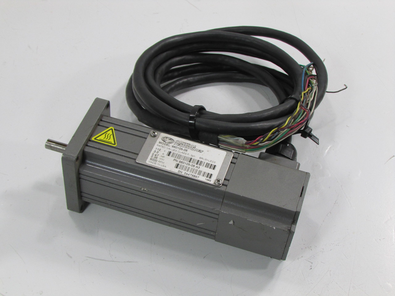 control techniques 960105 06 brushless servo motor