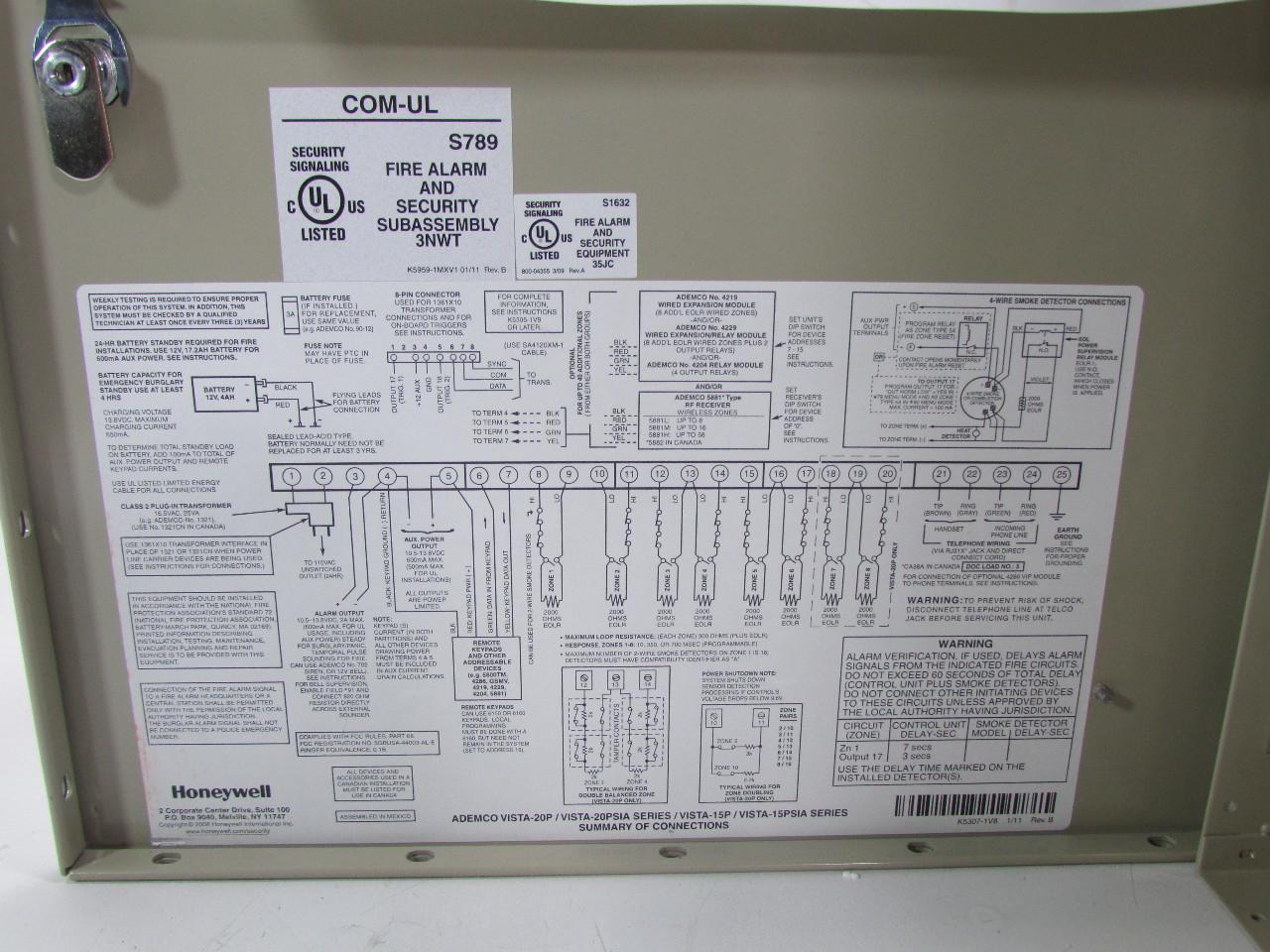Honeywell Fire Alarm  U0026 Security Sub