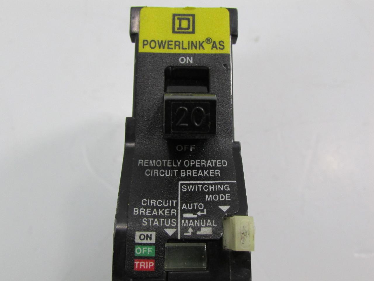 SQUARE D EHB14020AS REMOTE CONTROL CIRCUIT BREAKER EHB AS POWERLINK AS  #ABAC1F