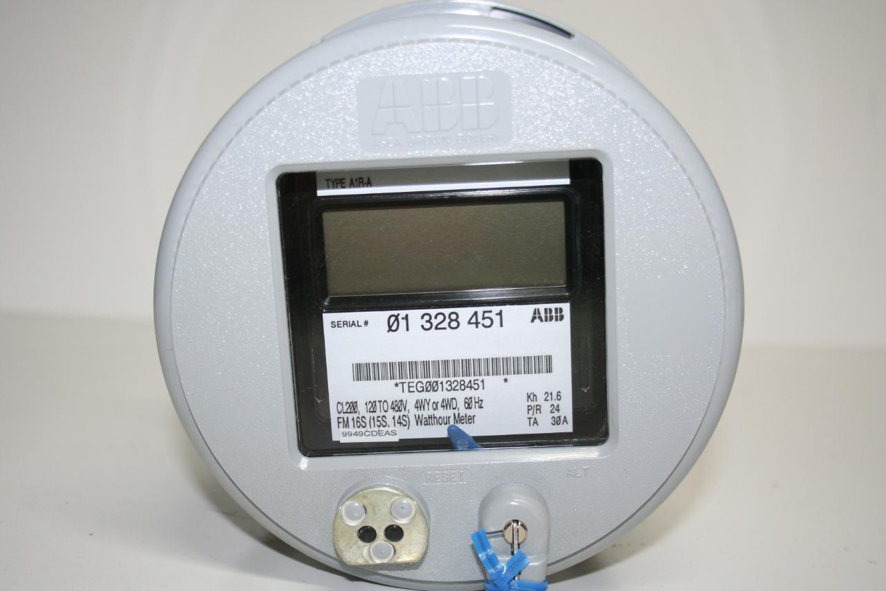 Watt Hour Meter : New abb type a r digital watt hour meter fm s cl