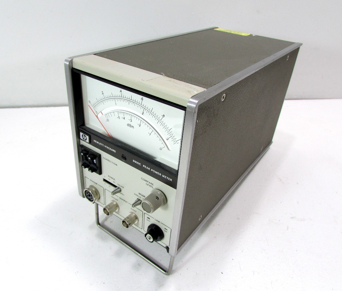 Analog Power Meter : Agilent hp c peak power meter analog warranty