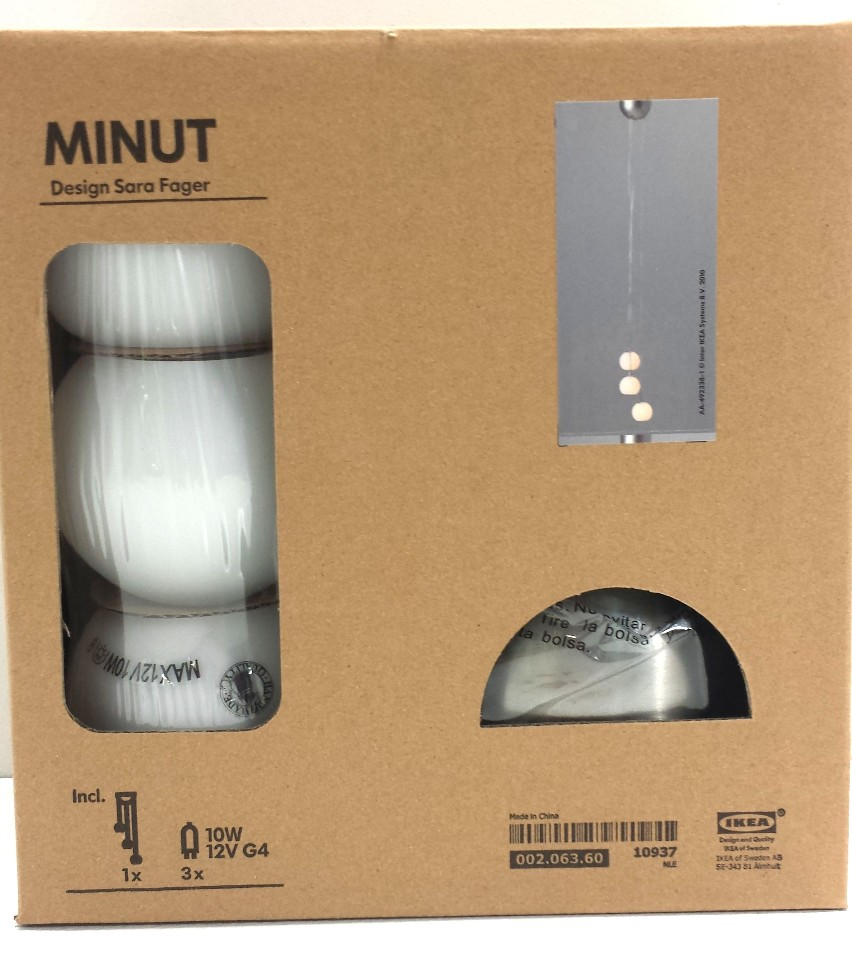 Minut Pendant Lamp: NEW IKEA MINUT MODERN 3 STRAND CEILING PENDANT LIGHT LAMP
