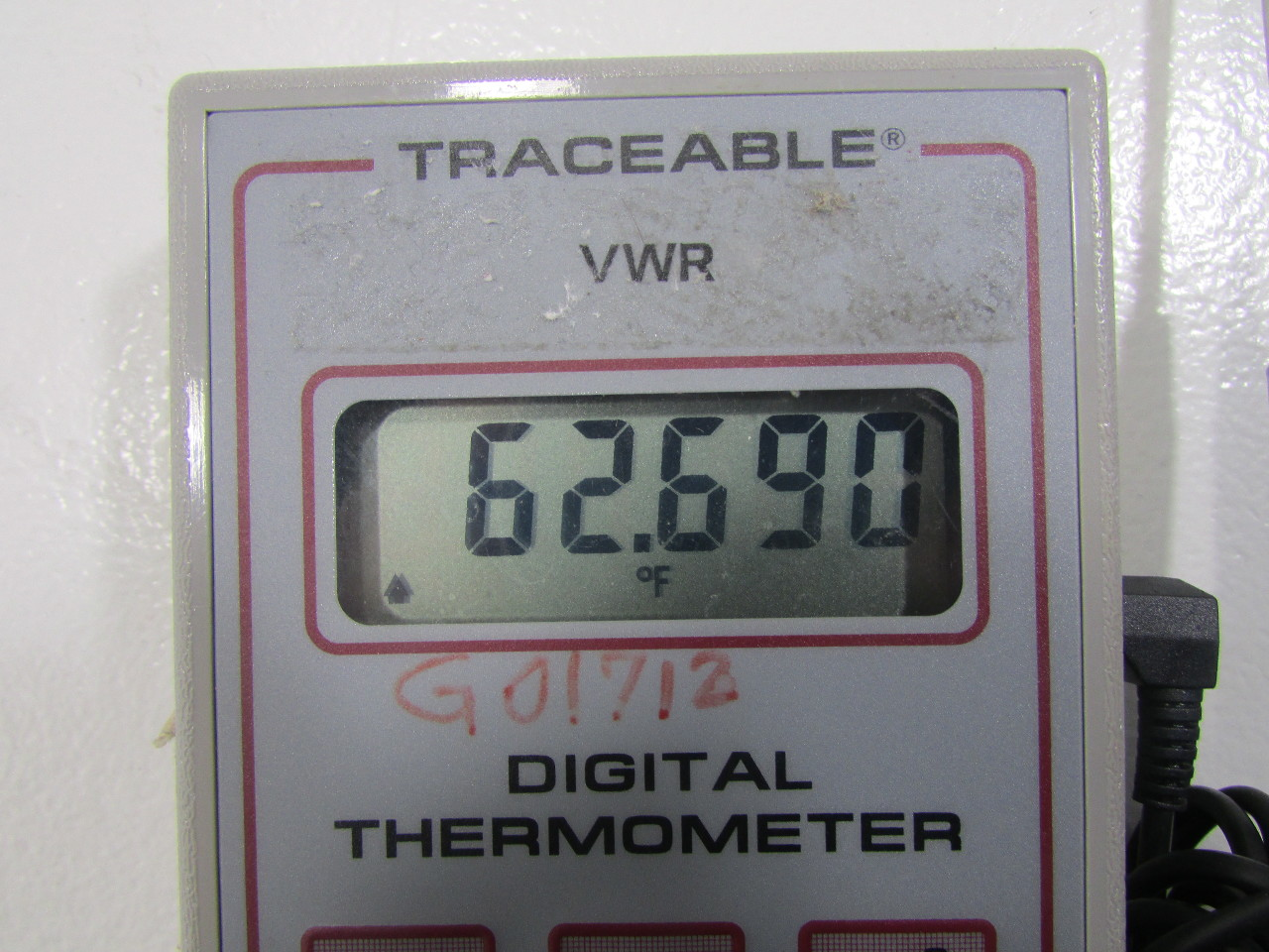 VWR TRACEABLE DATA LOG 50 MEMORY DIGITAL THERMOMETER -50 ...