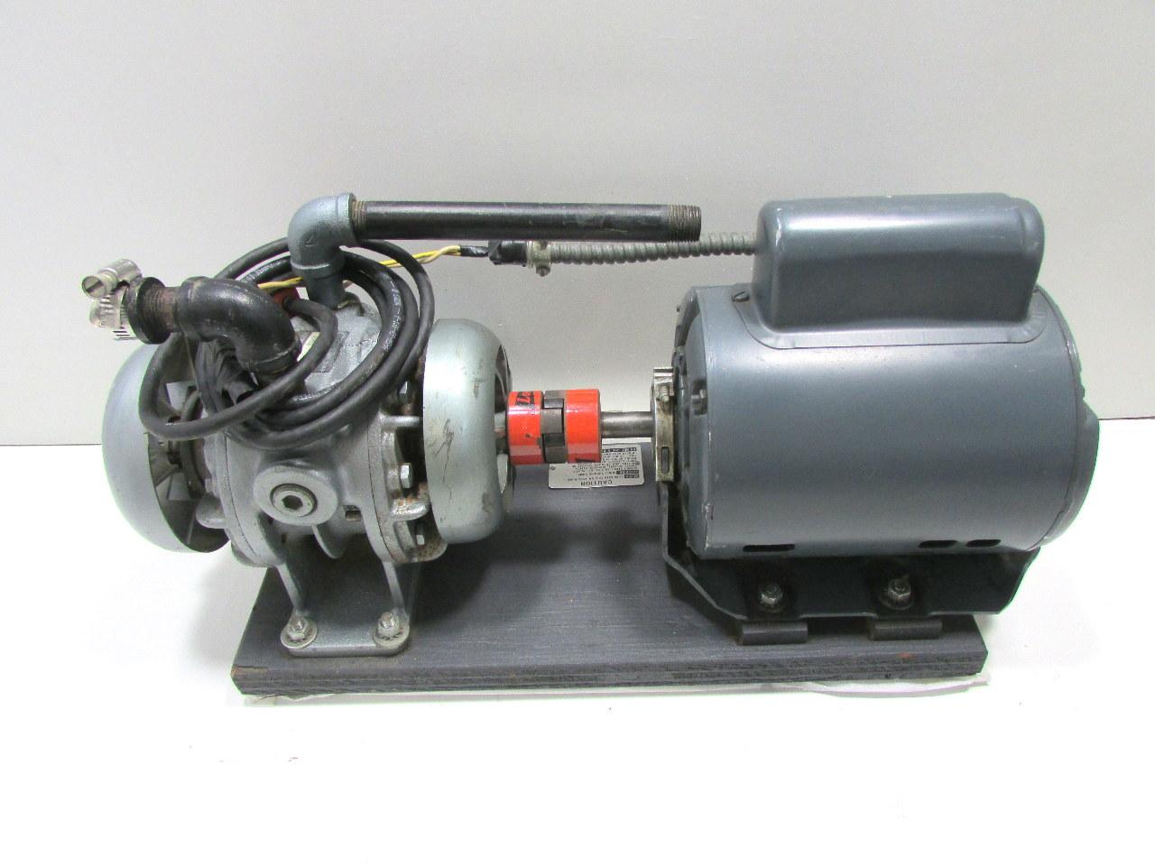 Gast 1550 V159 Vacuum Pump W Ge 5kc45pg1140h 3 4 Hp