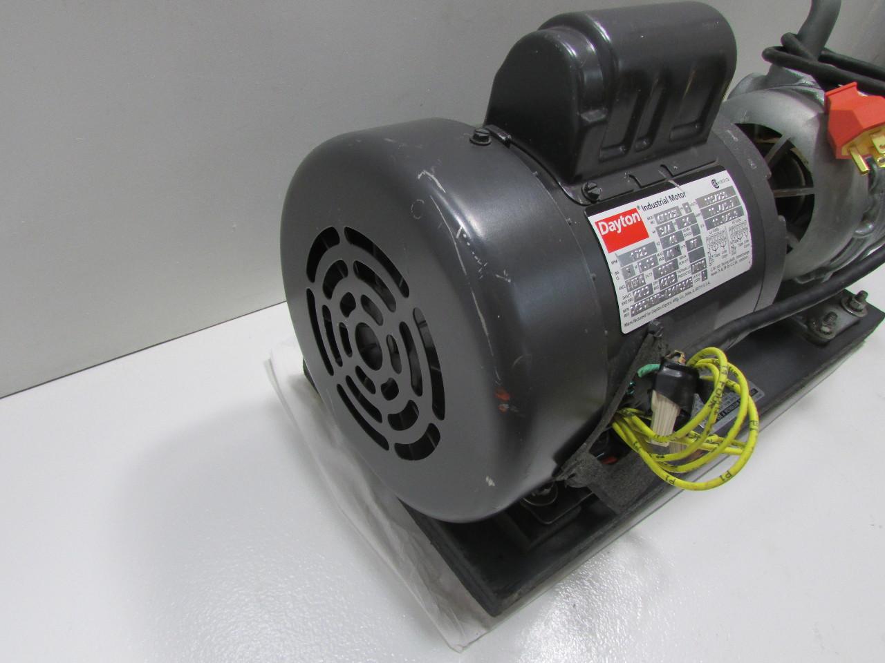 Gast 1550 V136b Vacuum Pump W Dayton 6k123l 3 4 Hp