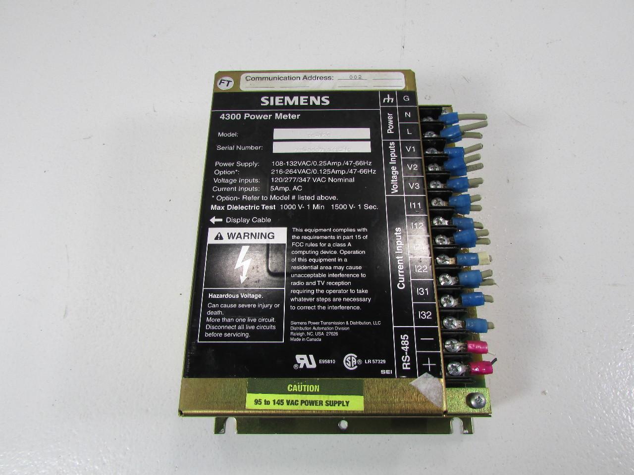 Power Monitors Inc : `` lot of siemens dc power meter xlnt