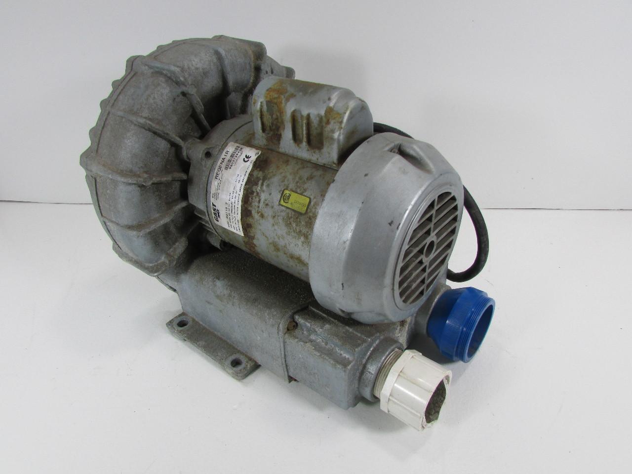 Gast R4110 2 Blower Motor W Regenerative Fan 9 8 4 9a