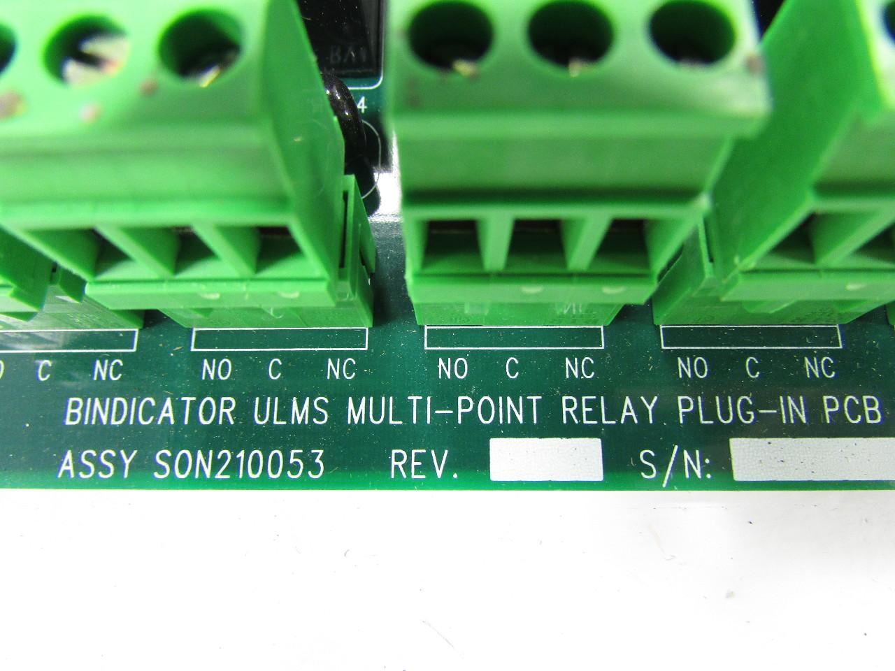Bindicator Son210053 Umls Multi Point Relay Plug In Pcb