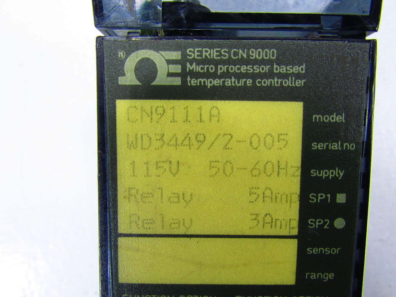 OMEGA CN9111A TEMPERATURE CONTROL 2WIRE RTD 5/3AMP 115VAC OUTPUT