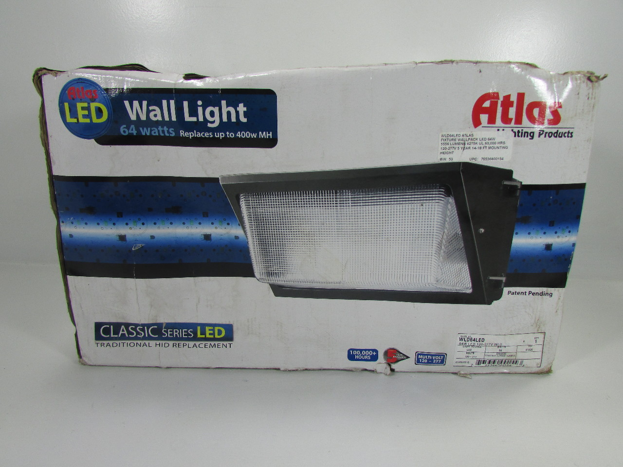 NEW ATLAS WLD64LED 64W LED WALL LIGHT 102 277V Premier Equipment Solutions