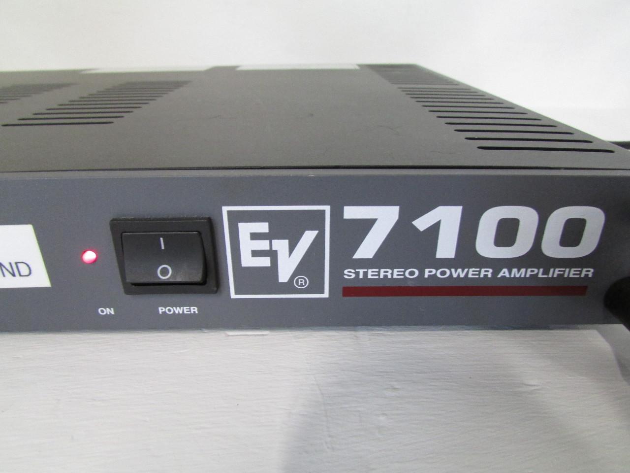 electro voice 7100 stereo power amplifier premier equipment solutions inc. Black Bedroom Furniture Sets. Home Design Ideas