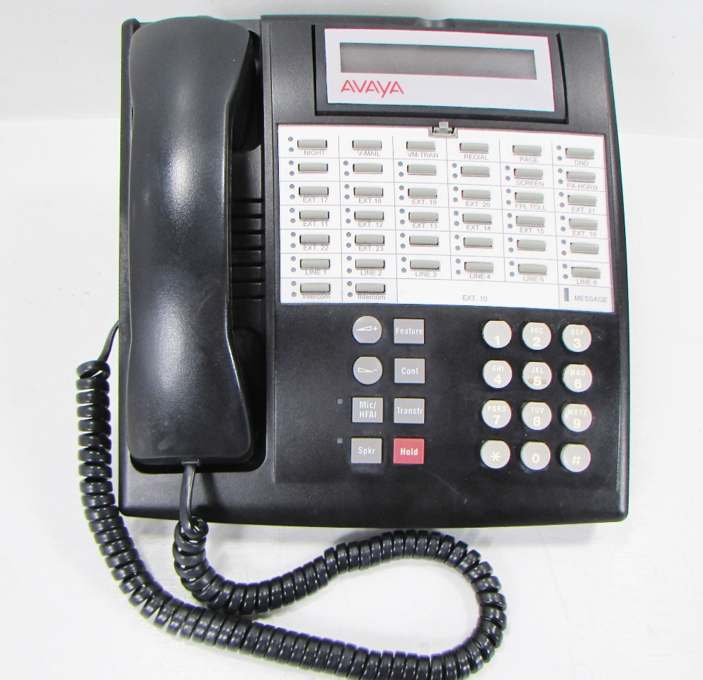 AVAYA 34D 107 305 054 R PHONE TELEPHONE BLACK | Premier ...