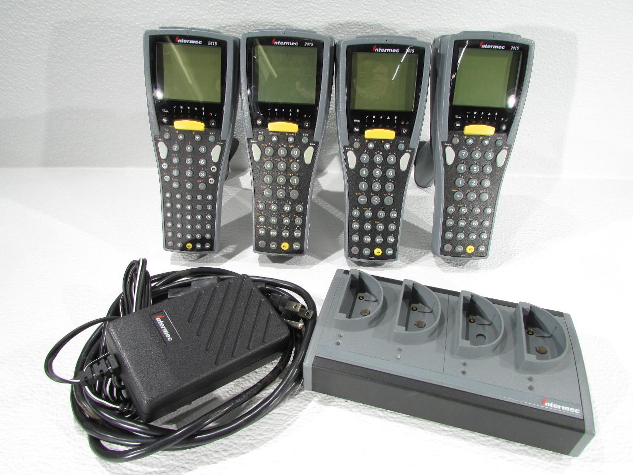 Lot Of 4 Intermec 2415 Trakker Antares Barcode Scanner