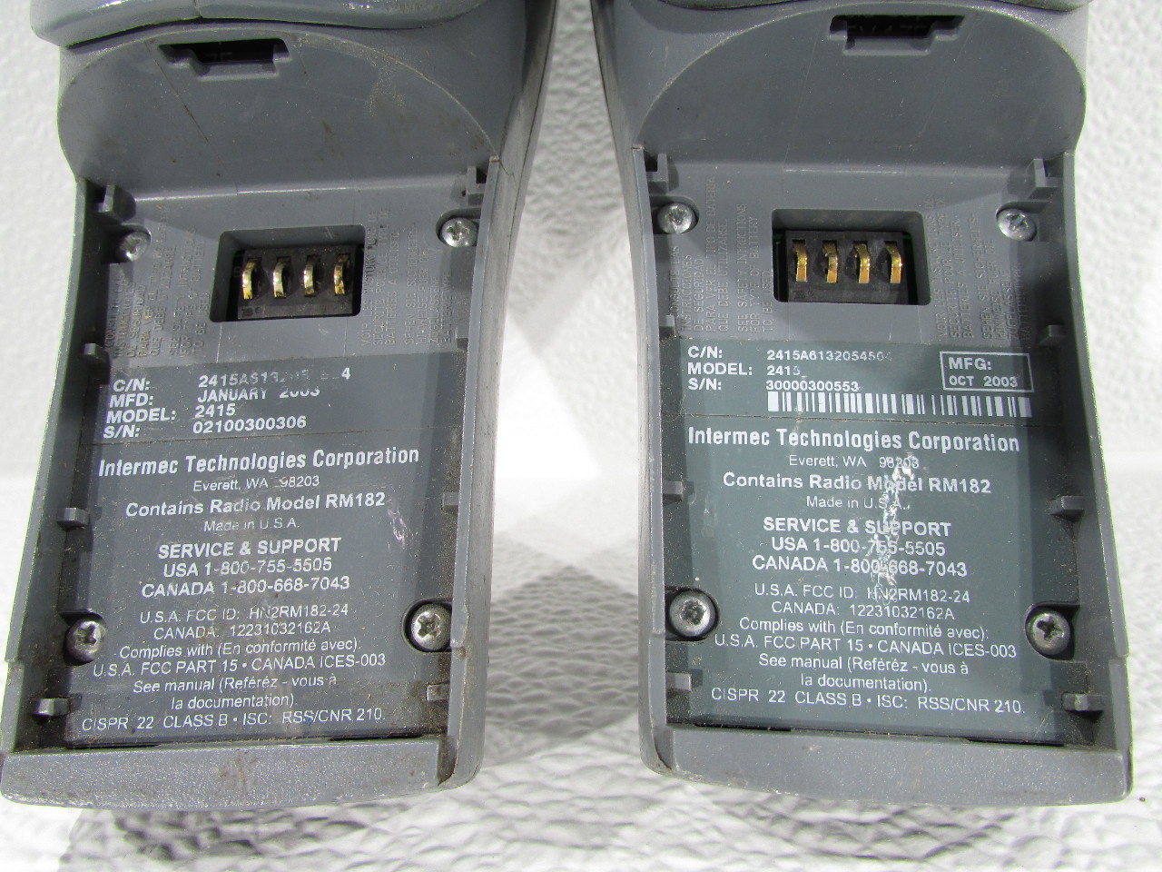lot of 2 intermec 2415 trakker antares barcode scanner premier rh premierequipmentsolutions com