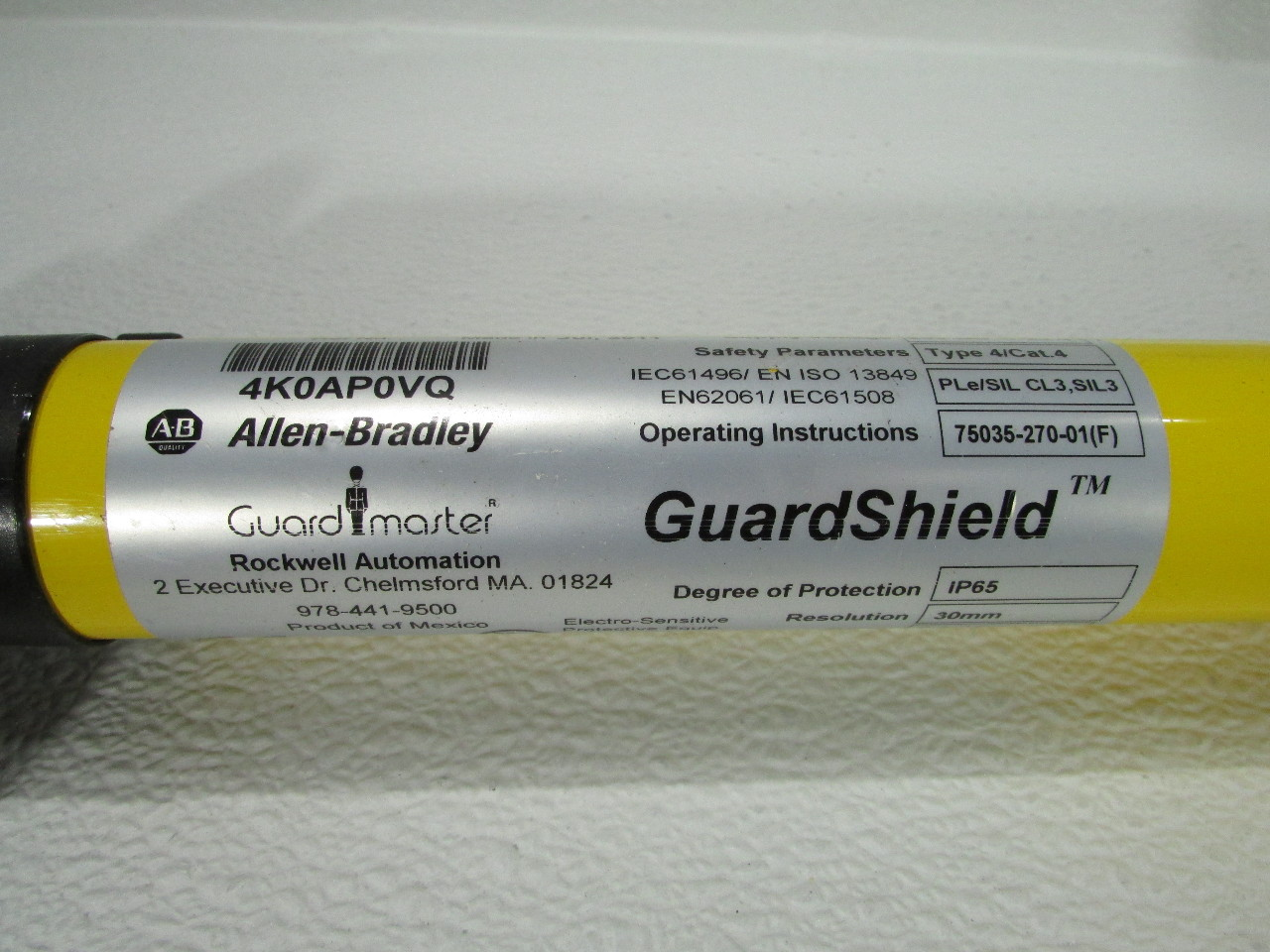 Allen Bradley 440l R4k0640yd Guardmaster Ltd Light Curtain
