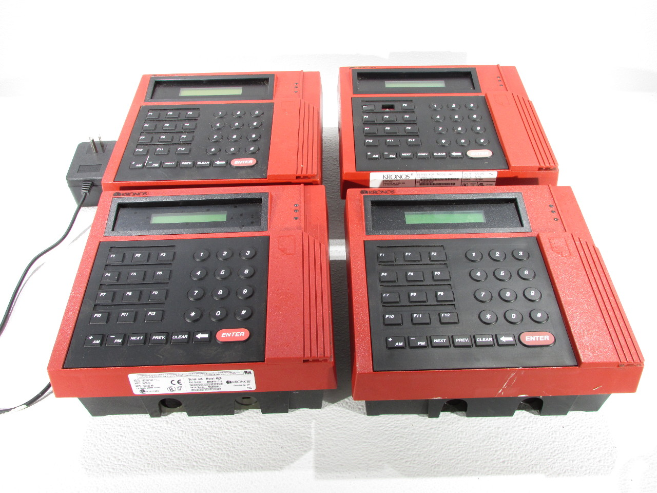 Kronos 480f Time Clock For Sale: LOT OF 4 KRONOS 8600615-001 460F TIME CLOCK 120/230VAC 150