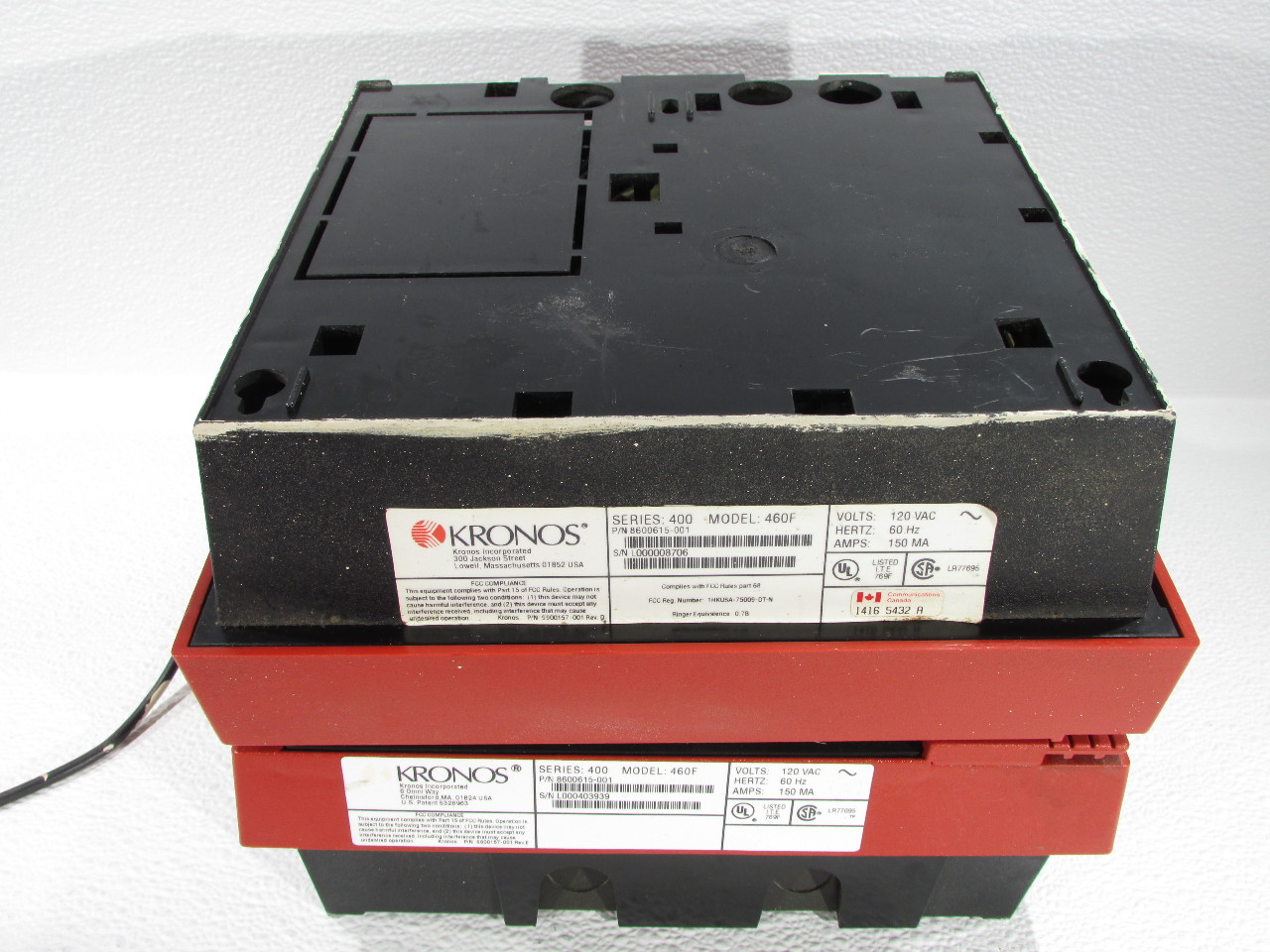 Kronos 480f Time Clock For Sale: LOT OF 4 KRONOS 8600615-001460F TIME CLOCK 120/230VAC 150