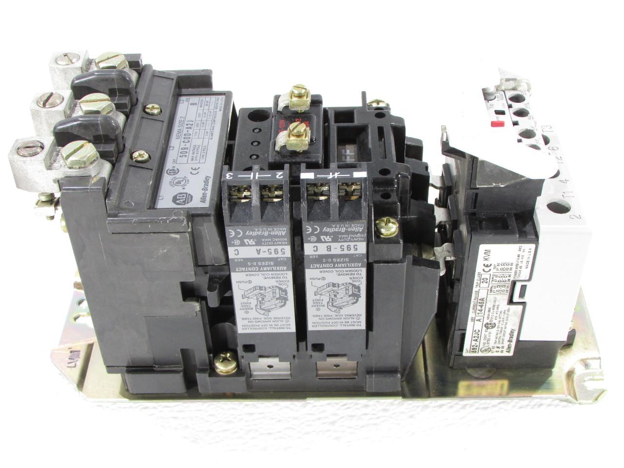 Allen Bradley 509 Cod A2j Non Reversing Starter Size 2