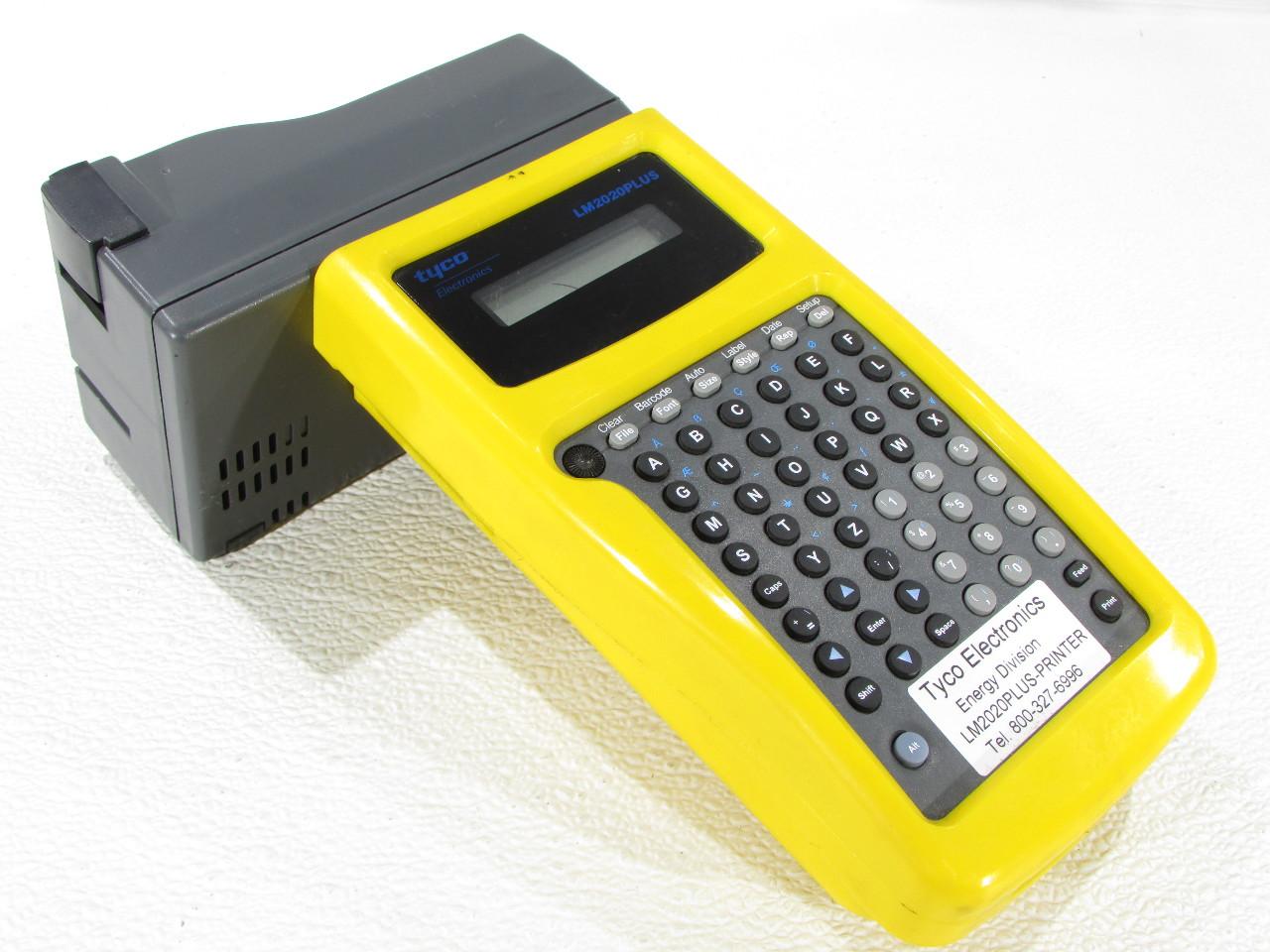 TYCO ELECTRONICS LM2020-PLUS HAND HELD LABEL PRINTER ...