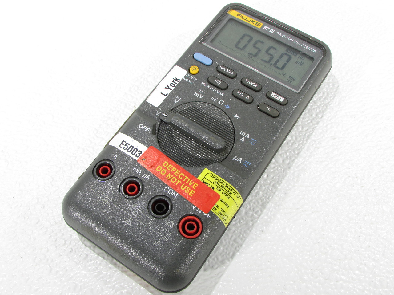 Fluke Multimeter 87 : Fluke iii true rms multimeter premier equipment