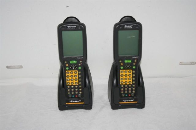 Lot of 2 HHP Dolphin 7450 Pocket PC with Charging Cradle 90009397-2