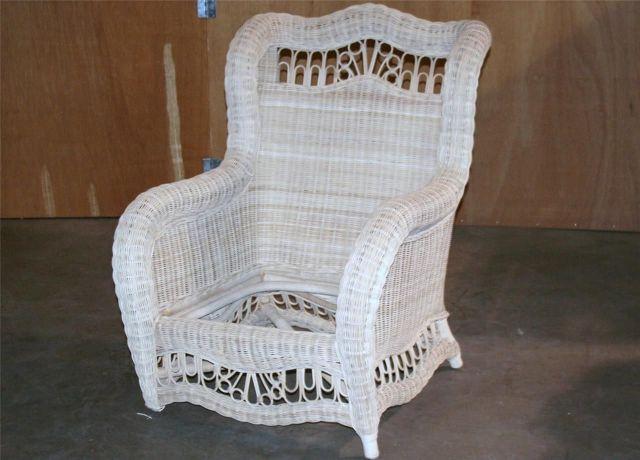 ~ Ethan Allen Wicker Chair Patio Outdoor or Indoor