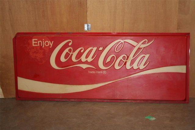 "~ VINTAGE VERY LARGE COCA-COLA SIGN 86"" x 33.5"""