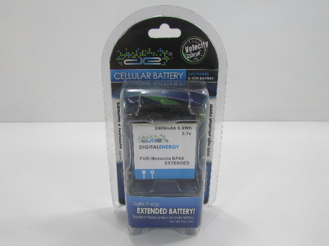 DIGITAL ENERGY 2400mAh 8.9Wh 3.7V BATTERY FOR MOTOROLA BP6X