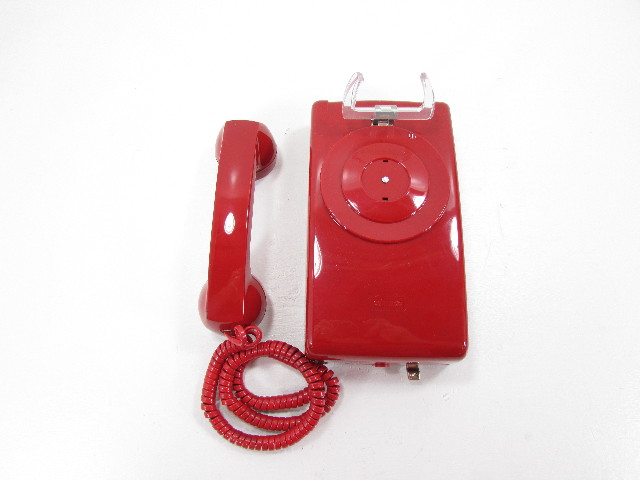 NEW VIKING HAC K-1500P-W RED NO DIAL WALL PHONE 257601C