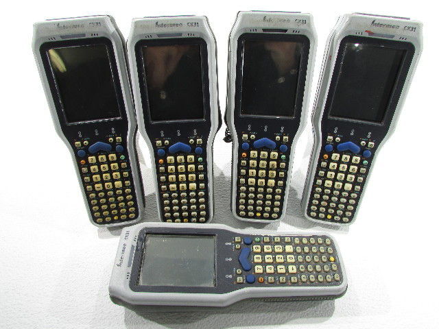 LOT OF (5) INTERMEC CK31 LASER BARCODE SCANNER