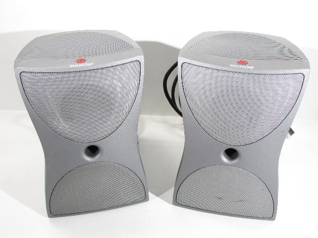 LOT OF 2 POLYCOM  VSX 7000 VIDEO CONFERENCE SPEAKER SUBWOOFER