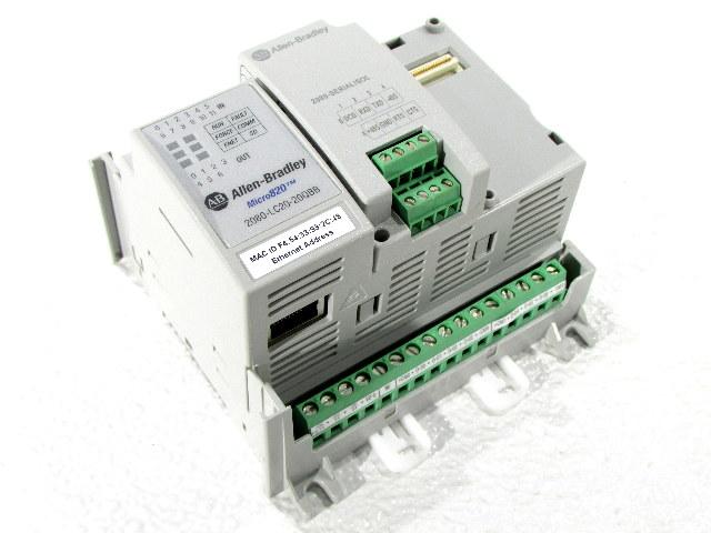 * 2016 ALLEN BRADLEY MICRO820 2080-LC20-20QBB B ITHERNET IP w/ 2080-SERIALISOL port