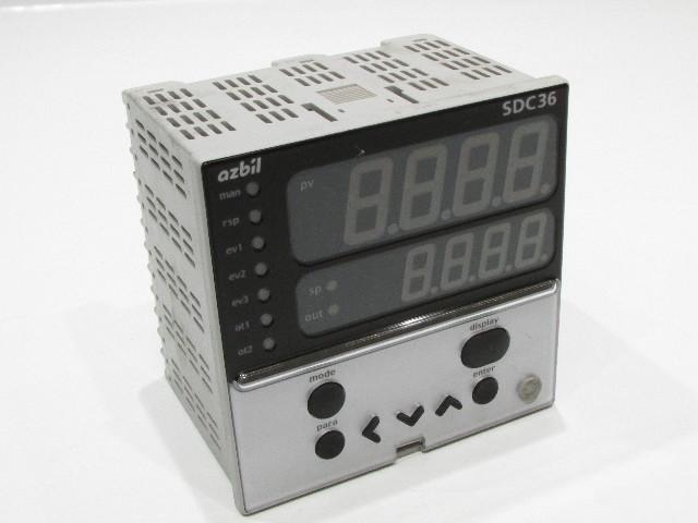 AZBIL C36TC0UA12K0 TEMPERATURE CONTROLLER 12VA 100-240VAC 50/60HZ