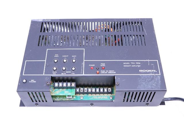 BOGEN COMMUNICATION TPU100A PAGING AMPLIFIER