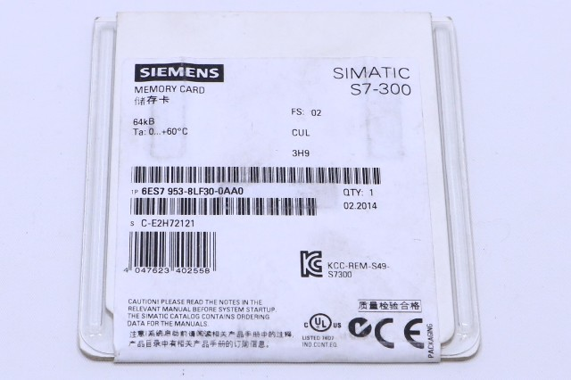 * NEW SEALED SIEMENS SIMATIC S7-300 6ES7 953-8LF30-0AA0 MICRO MEMORY CARD 64 KB