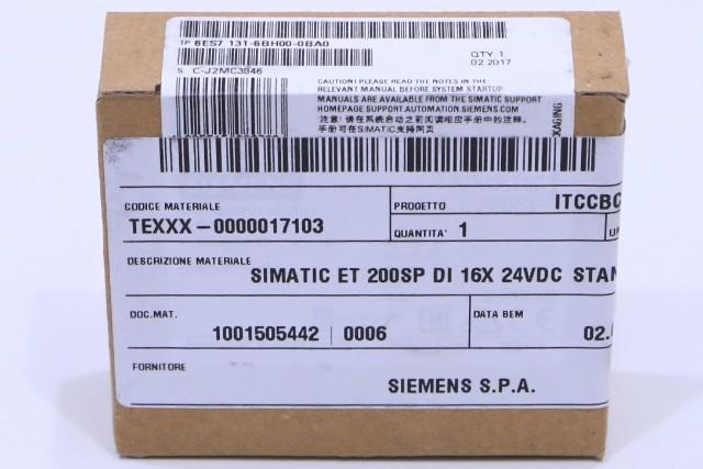 * NEW SEALED SIEMENS SIMATIC ET 200SP 6ES7 131-6BH00-0BA0 DI 16X 24VDC