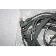 MOTOROLA SYMBOL CBA-K08-C20PA BARCODE SCANNER PS2 CABLE (LOT OF 2)