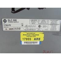 ALLEN BRADLEY 1746-P2 SERIES C SLC 500 POWER SUPPLY