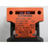 SIEMENS 3SE2-243-0XX INTERLOCK SW,TOP & SIDE ENTRY,1NO + 2NC, INTERLOCKS