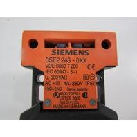 SIEMENS 3SE2-243-0XX INTERLOCK SW,TOP & SIDE ENTRY