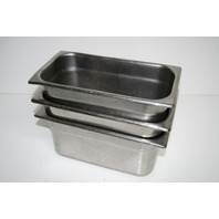 "* LOT OF 3 STAINLESS STEEL MEDICAL INSTUMENT TRAYS 12-1/2""X7""X6"""