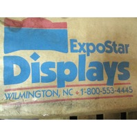 "* EXPOSTAR DISPLAY TRADESHOW W/CASE 44.5"" TALL 23"" WIDE EACH SECTION W/ LIGHTS"